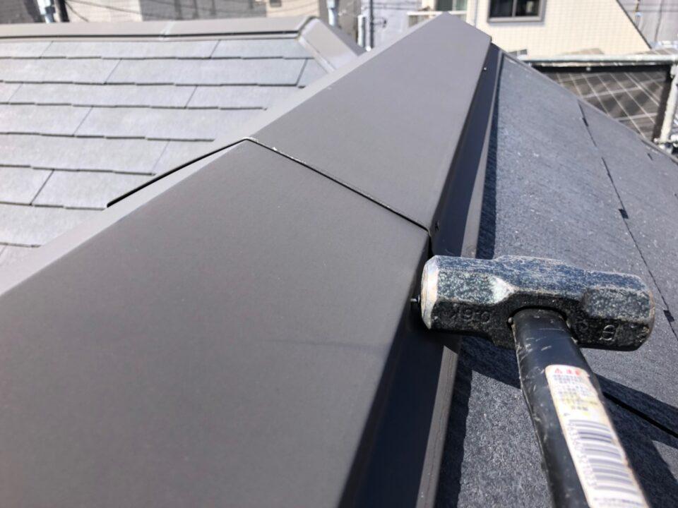 屋根 釘補修